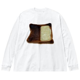 焦げパン Big silhouette long sleeve T-shirts