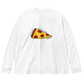 cheese pizza Big silhouette long sleeve T-shirts