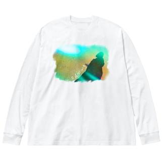 shiningTシャツ Big silhouette long sleeve T-shirts