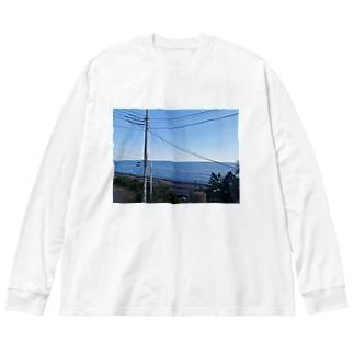 歳をとってもこの景色を二人で見よう Big silhouette long sleeve T-shirts