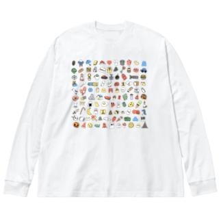 108 Big silhouette long sleeve T-shirts