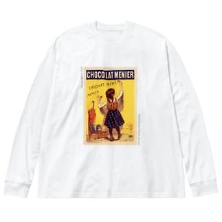 Chocolat Menier_name_front Big silhouette long sleeve T-shirts