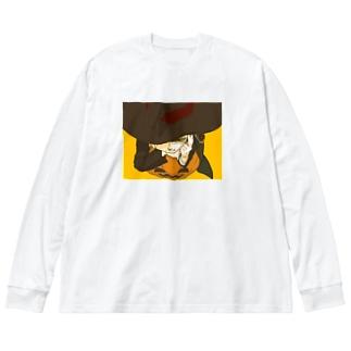 halloween Big silhouette long sleeve T-shirts