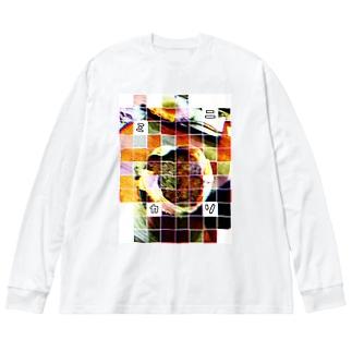 カニミソ Big silhouette long sleeve T-shirts