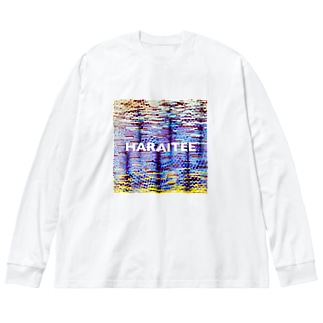 はらいてえ Big silhouette long sleeve T-shirts