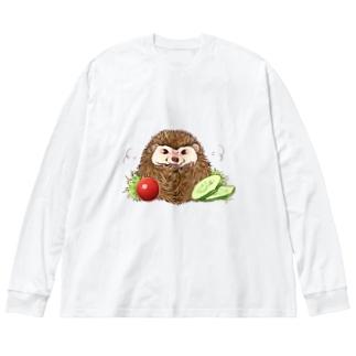 コロッケ(パン粉粗め) Big silhouette long sleeve T-shirts