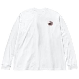 りんごのロンT🍎 Big Silhouette Long Sleeve T-Shirt