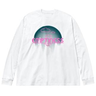 くものうえ (緑) Big silhouette long sleeve T-shirts