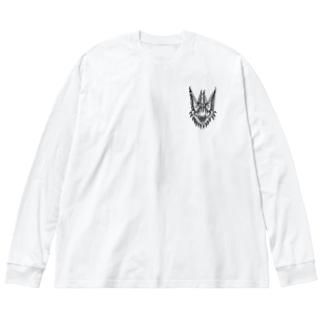 蝙蝠 Big silhouette long sleeve T-shirts