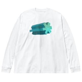 歯車 Big silhouette long sleeve T-shirts