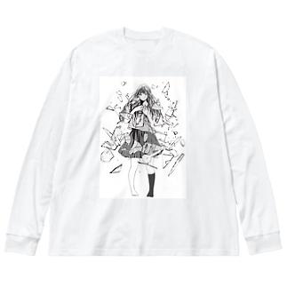 nemu105のshock Big Silhouette Long Sleeve T-Shirt
