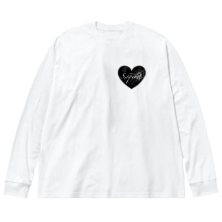 せみのS,spirit ロゴT Big Silhouette Long Sleeve T-Shirt