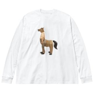 人馬一体 Big silhouette long sleeve T-shirts