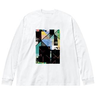 trash box 01 Big silhouette long sleeve T-shirts