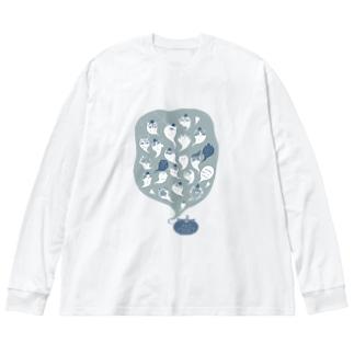 2020ハロウィン修正版 Big silhouette long sleeve T-shirts