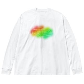 かぷちーの Big silhouette long sleeve T-shirts