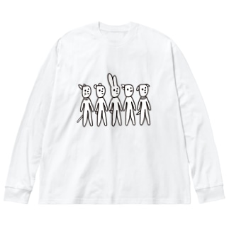 月井軍団 Big silhouette long sleeve T-shirts