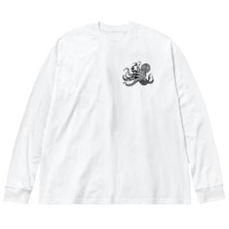 タコ+ Big Silhouette Long Sleeve T-Shirt