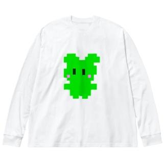ドットぽに Big silhouette long sleeve T-shirts