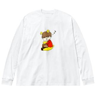 けいプー Big silhouette long sleeve T-shirts