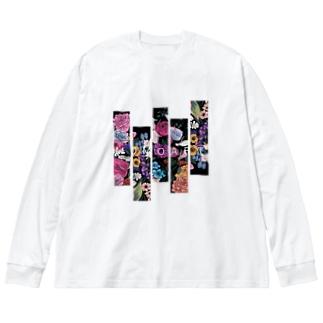 花園 Big silhouette long sleeve T-shirts