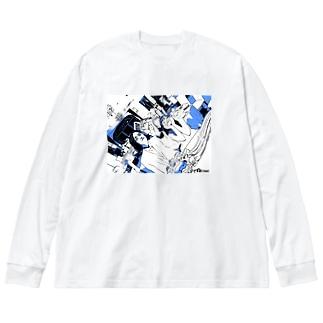 抽選2 Big silhouette long sleeve T-shirts