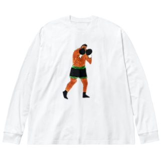 Fight!! Big silhouette long sleeve T-shirts