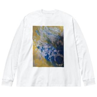 月光 Big silhouette long sleeve T-shirts