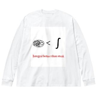 Integral better than steak Big silhouette long sleeve T-shirts
