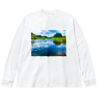 荒川(in栃木) Big silhouette long sleeve T-shirts