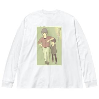 boy & lady Big silhouette long sleeve T-shirts