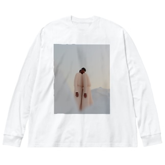 twin Big silhouette long sleeve T-shirts