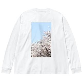 桜 Big Silhouette Long Sleeve T-Shirt