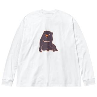 あの犬/ツキノワイヌ Big silhouette long sleeve T-shirts