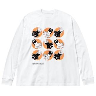 ネコ兄弟 tXTC_68 Big silhouette long sleeve T-shirts