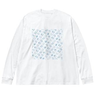 本田とゆかいな仲間たち Big silhouette long sleeve T-shirts