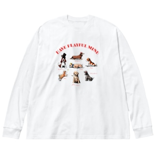 DOGS Big silhouette long sleeve T-shirts