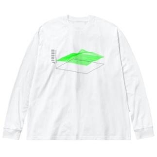 3D Mt.Fuji Big silhouette long sleeve T-shirts