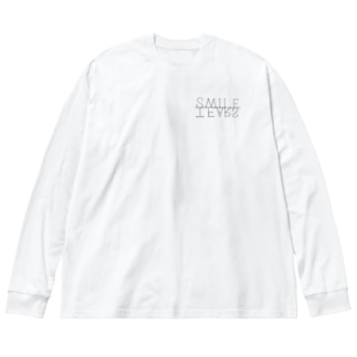 SMILE/TEARS Big silhouette long sleeve T-shirts