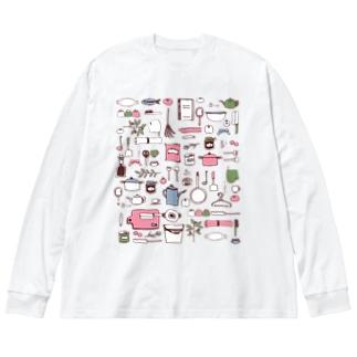 my favorite_pastel Big silhouette long sleeve T-shirts