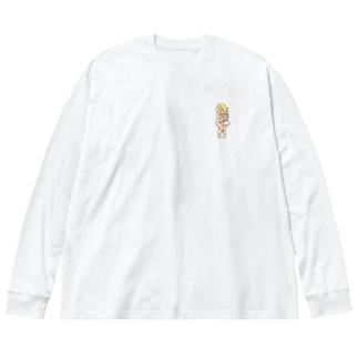 サウナヴィーナスロゴ【サウナガスキ】 Big silhouette long sleeve T-shirts