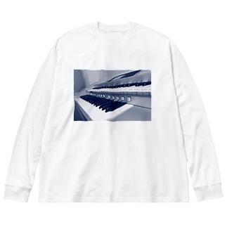 えれくとーん Big silhouette long sleeve T-shirts