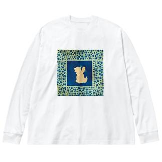 寝酒 Big silhouette long sleeve T-shirts