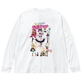ガールズファイター!ミルクディッパー☆03☆AYA Big silhouette long sleeve T-shirts