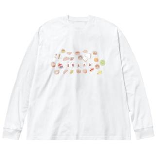 なかよしパン屋さん Big silhouette long sleeve T-shirts