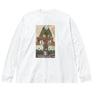 サイボーグツリー Big silhouette long sleeve T-shirts