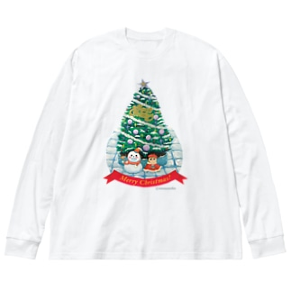 Merry Christmas!! Big silhouette long sleeve T-shirts