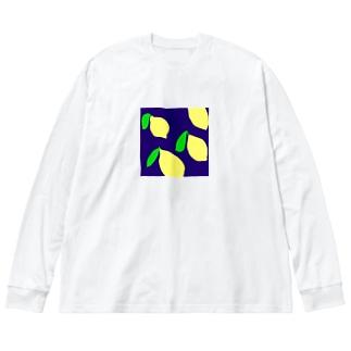 れもん Big Silhouette Long Sleeve T-Shirt