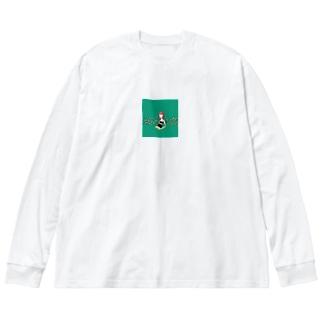 緑の女の子 Big silhouette long sleeve T-shirts