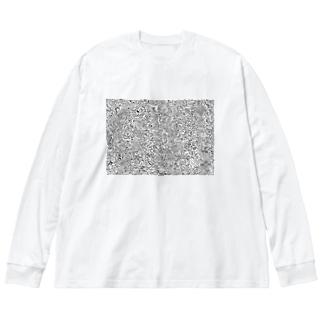 Moyaのもやもやなもの Big silhouette long sleeve T-shirts